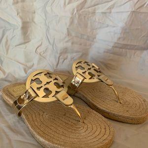 Tory Burch Shoes - Tory Burch Miller Espadrille Sandal, Gold (7)
